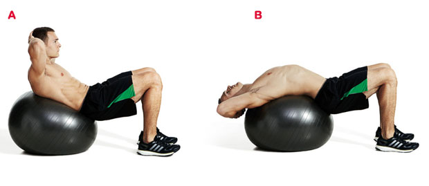 Fitness Ball Crunches