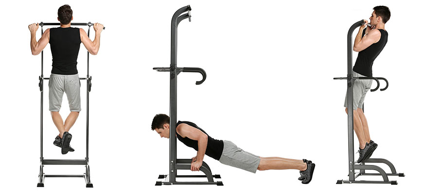 Ancheer Adjustable Power Tower GYM