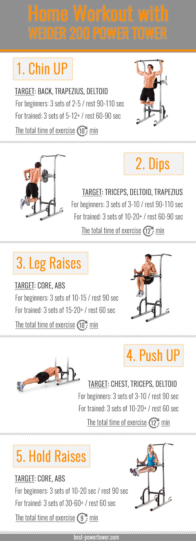Weider Power Tower workout
